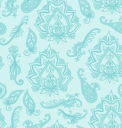 Seamless indian pattern based on traditional Asian vector image