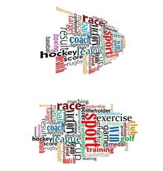 Sport tag cloud vector image