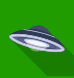 Ufo icon in flat style isolated on white vector
