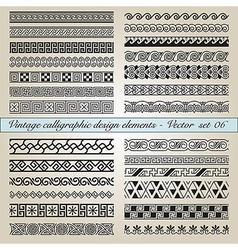 Vintage calligraphic design elements vector image