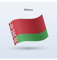 Belarus flag waving form vector image vector image