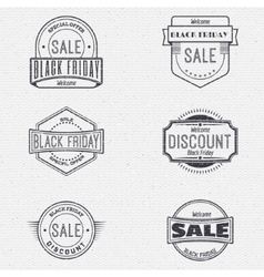 Black friday sale insignia and labels for any use vector image