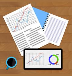 exchange data chart vector image vector image