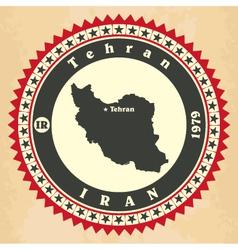 Vintage label-sticker cards of Iran vector image