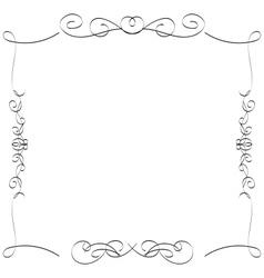 Calligraphic borders frames vector image