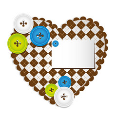 colored figures inside of heart icon vector image