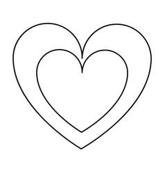hearts love line vector image