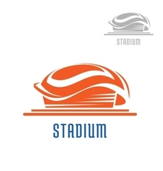 Sport area or stadium icon vector image vector image