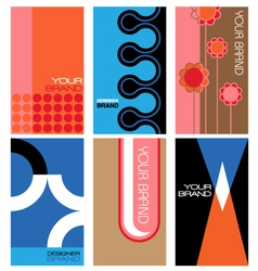 1960s inspired graphics set vector image