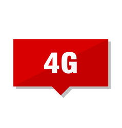 4g red tag vector