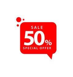 50 sale special offer template design vector