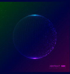 abstract globe particles sphere vector image