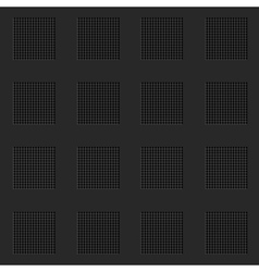 Abstract lattice black seamless background vector image