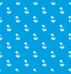 acorn pattern seamless blue vector image