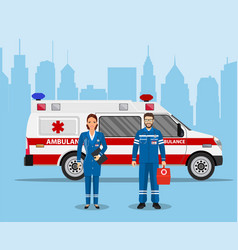 Ambulance medical service first aid concept vector