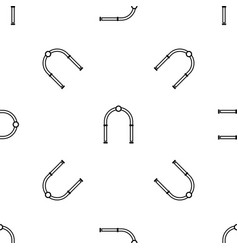 arch pattern seamless black vector image
