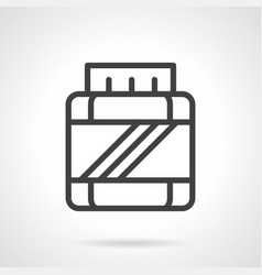 Bcaa jar simple line icon vector
