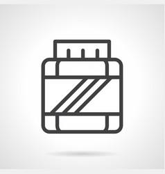 bcaa jar simple line icon vector image