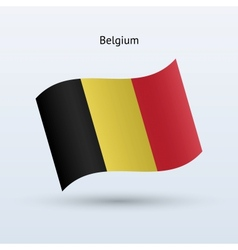 Belgium flag waving form vector