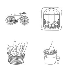 Bicycle transport vehiclecafe france country vector