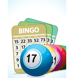 Bingo balls and cards2 vector