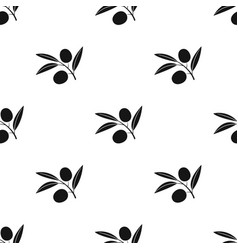 Branch of olives icon in black style isolated on vector