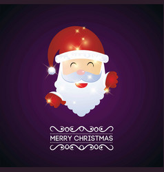 christmas card with santa clause vector image