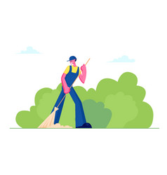 Cleaning service activity concept janitor female vector