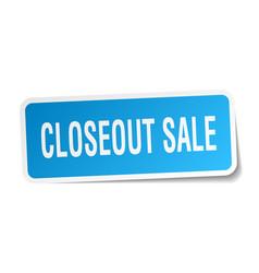 Closeout sale square sticker on white vector