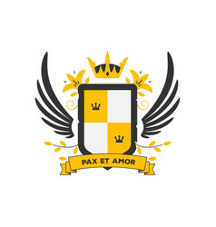 coat arms with two colors vector image