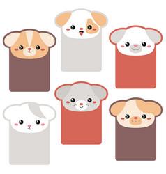 Collection of cute cards collection of cute cards vector