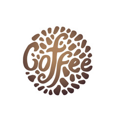 concept of coffee circle vector image