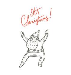 dancing santa claus cute vector image
