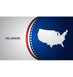Delaware vector image