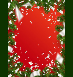 design christmas background with copy space vector image