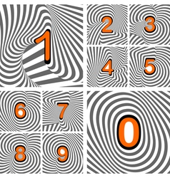 Design numbers set vector image