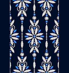 Diamond jewellery seamless pattern vector