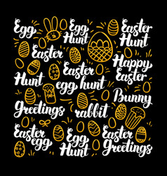 easter egg calligraphy design vector image