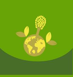 eco friendly green energy concept solar energy vector image