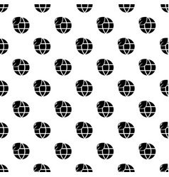ecology earth globe pattern seamless vector image