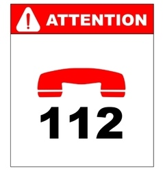 emergency call 112 vector image
