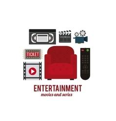 Entertainment icons design vector