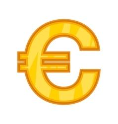 Euro icon cartoon style vector image