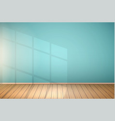 Example of empty room with window vector