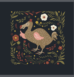 exotic dodo bird vector image