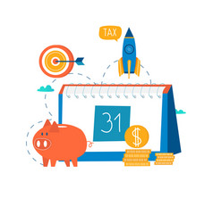financial calendar financial planning vector image