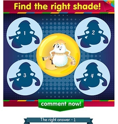 Find the right shade egg 2 vector