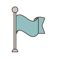 flag ribbon banner message blank vector image vector image