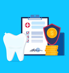 flat dental insurance or vector image