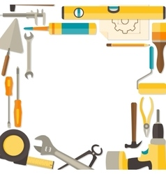 Flat design background with do-it-yourself vector